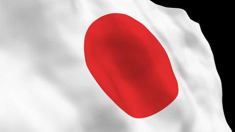 National Flag B02 JP JAPAN HD Stock Video Footage