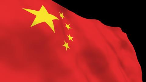 National Flag B04 CHN HD Stock Video Footage