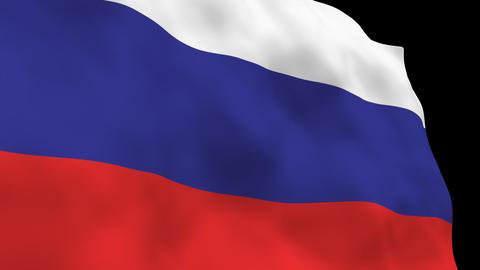 National Flag B10 RUS HD Stock Video Footage