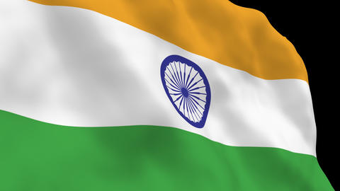 National Flag B12 IND HD Stock Video Footage