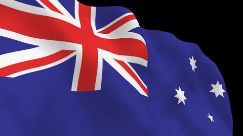 National Flag B14 AUS HD Stock Video Footage