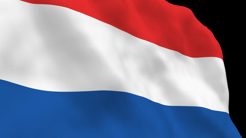 National Flag B16 NED HD Stock Video Footage