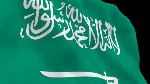 National Flag B24 KSA HD Stock Video Footage