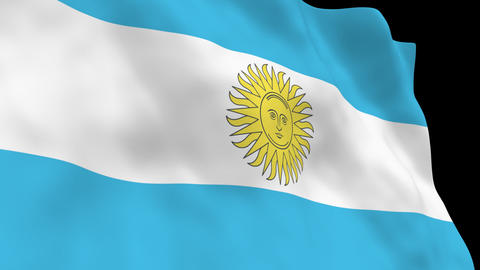 National Flag B32 ARG HD Animation