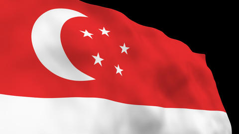 National Flag B44 SIN HD Stock Video Footage