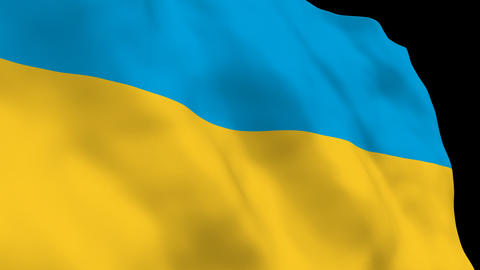 National Flag B48 UKR HD Stock Video Footage