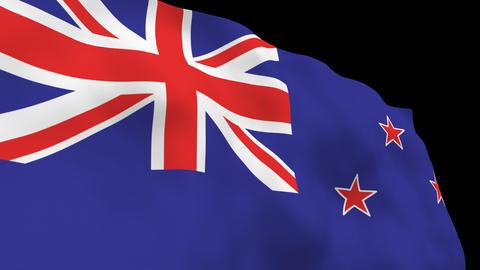 National Flag B52 NZL HD Stock Video Footage