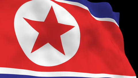 National Flag B62 PRK HD Animation