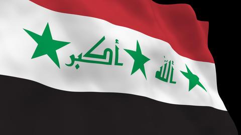 National Flag B68 IRQ HD Stock Video Footage
