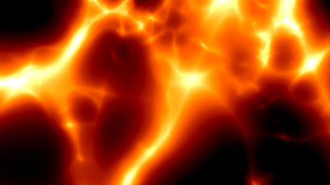 red fiery lava smooth Stock Video Footage