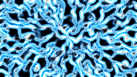 blue squiggly currents Stock Video Footage