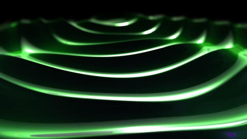 green waves Stock Video Footage