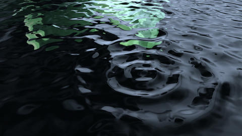 green rippled water Stock Video Footage