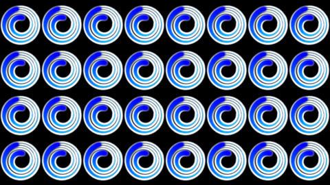 blue doughnut pattern Animation