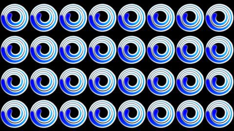 blue doughnut pattern Stock Video Footage