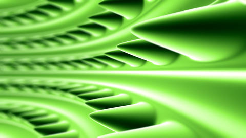 green organic tunnel Animation