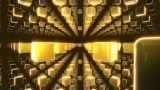 Golden Cubes Matrix stock footage