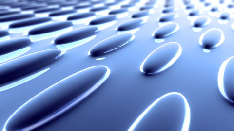 blue oval flat surface Stock Video Footage