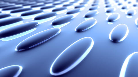 blue oval flat surface Animation
