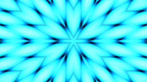 six petal flower pattern Animation