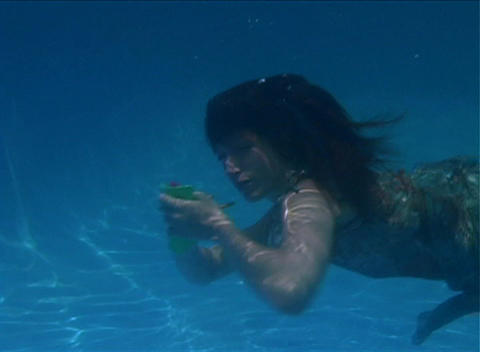 Alina Underwater 3 Stock Video Footage