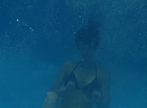 Alina Underwater 7 Stock Video Footage