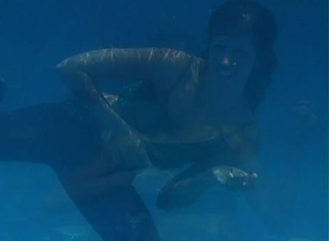 Alina Underwater 10 Stock Video Footage