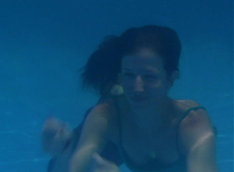 Alina Underwater 12 Stock Video Footage