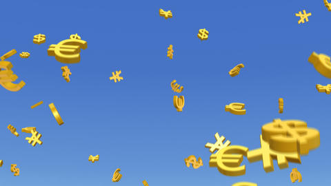 Money Dollar Euro Yen RMB 3 b HD Stock Video Footage
