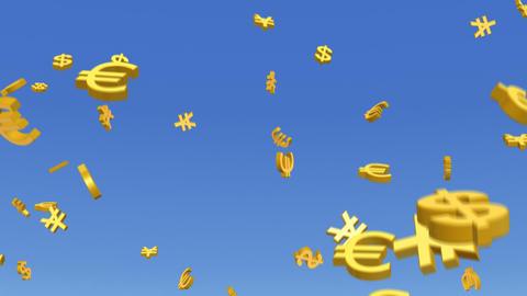 Money Dollar Euro Yen RMB 3 b HD Stock Video Footage