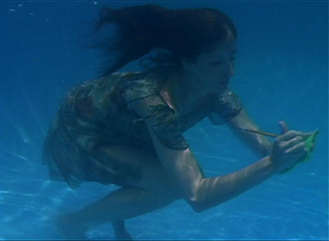 Alina Underwater 4 Stock Video Footage