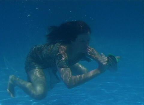 Alina Underwater 4 Stock Video Footage