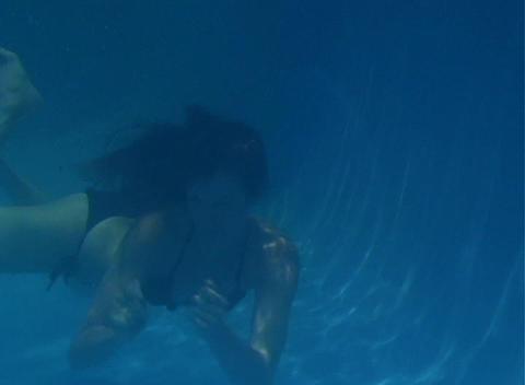 Alina Underwater 8 Stock Video Footage