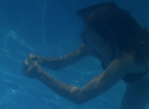 Alina Underwater 8 Stock Video Footage