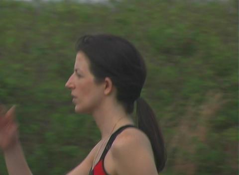 Beautiful Brunette Cooldown Walk (2) Footage