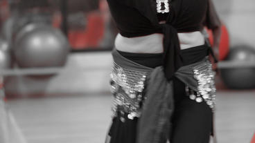 Belly Dancing Women Class Group Dance In Front Of stock footage