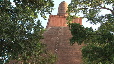 Jetavana stupa in Anuradhapura, Sri Lanka Stock Video Footage