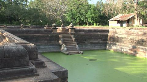 Kuttam Pokunu in Anuradhapura, Sri Lanka Footage