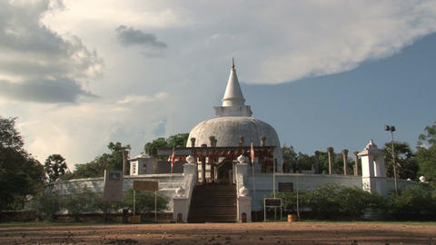 Stupa in Anuradhapura, Sri Lanka Stock Video Footage