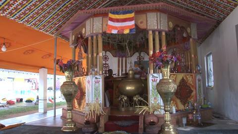 Praying monks in Anuradhapura, Sri Lanka Stock Video Footage