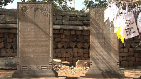 Temple graves in Anuradhapura, Sri Lanka Stock Video Footage