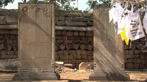 Temple graves in Anuradhapura, Sri Lanka Footage