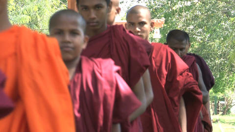 Monks in Anuradhapura, Sri Lanka Footage