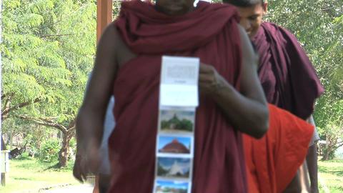 Monks in Anuradhapura, Sri Lanka Stock Video Footage