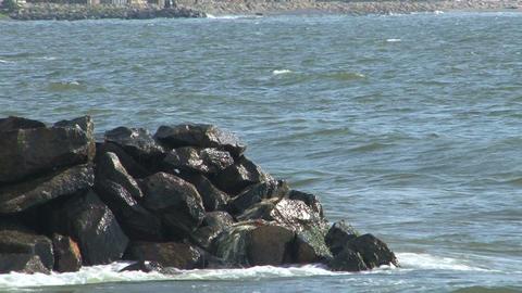 Rock coast Stock Video Footage
