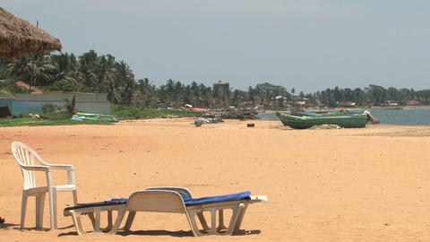 Relax on the Beach, Sri Lanka Stock Video Footage