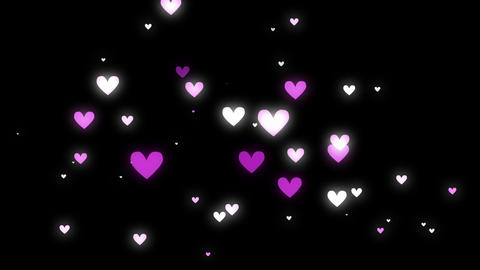 Heart Pink Black Stock Video Footage