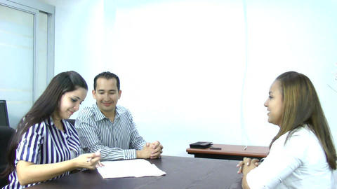 Young Couple Sign Document Stock Video Footage