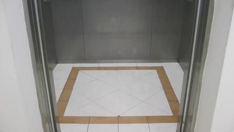 Inside Elevator and Doors open Stock Video Footage