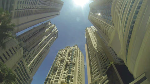 Tall Buildings In A Big City stock footage